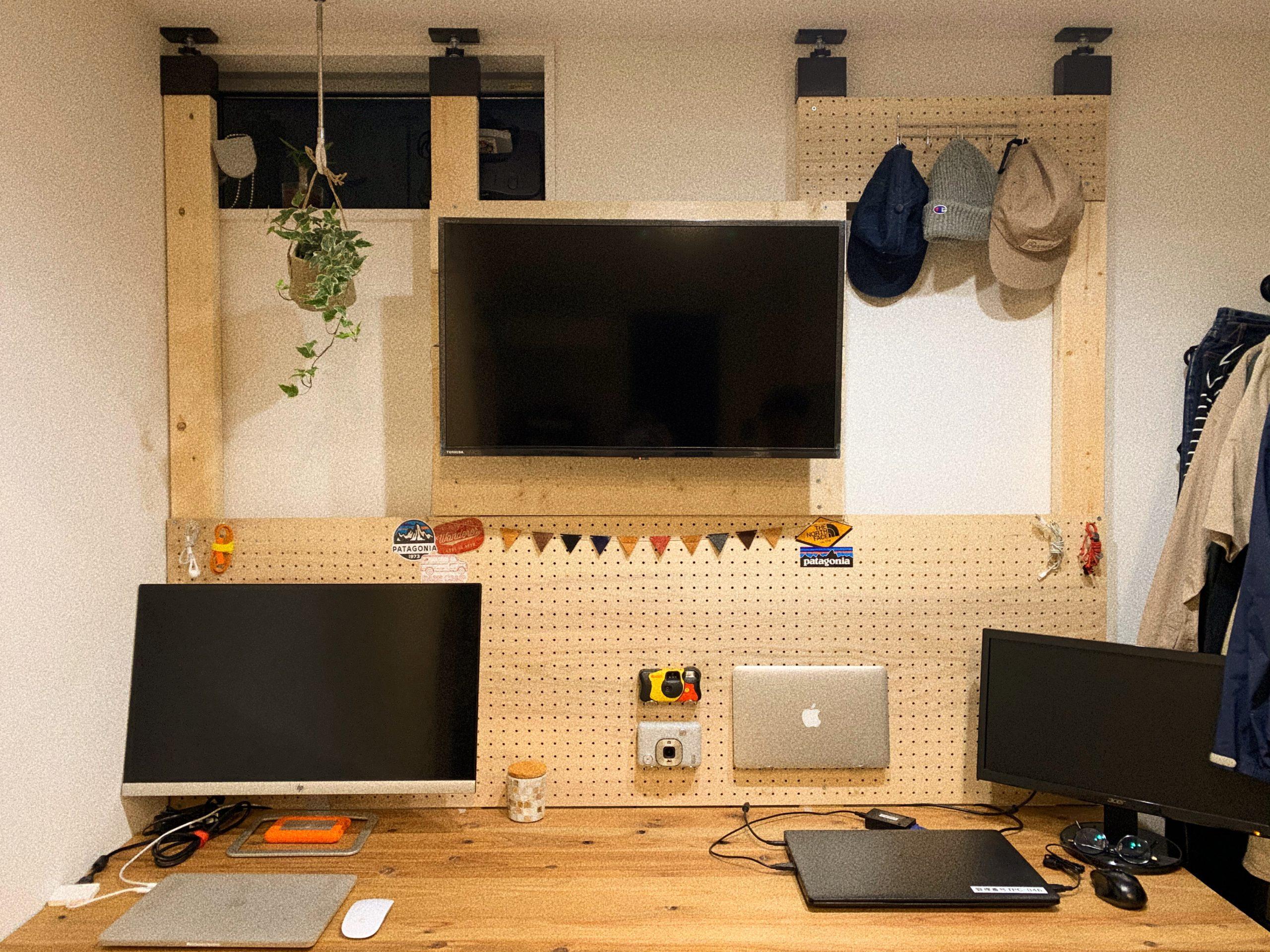 「【デスクDIY】リモートワークに最適なアンティーク風な作業机の作り方」のアイキャッチ画像