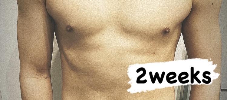 「【ダイエット】2週間の筋トレ・食トレによる体の変化」のアイキャッチ画像